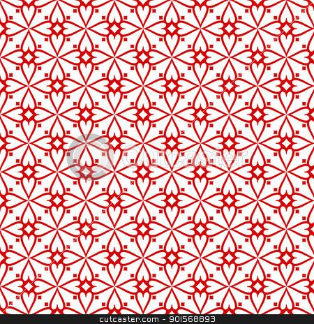 Seamless floral pattern stock vector clipart, Beautiful background of seamless floral pattern by Ingvar Bjork