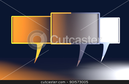 Speech bubbles stock photo, 3D rendered Illustration. Cartoon speech bubbles. by Michael Osterrieder
