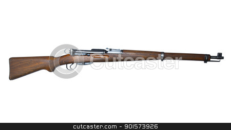 vintage swiss rifle stock photo, vintage swiss military rifle with clipping path at original size by digitalreflections