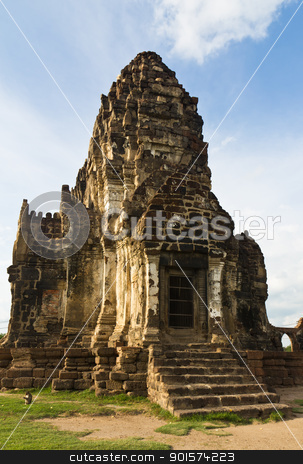 Wat Phra Prang Sam Yot stock photo, Wat Phra Prang Sam Yot temple in Lopburi,Thailand by stoonn