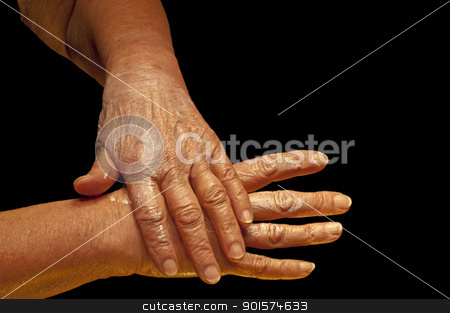 hands with creme stock photo, hands with creme by Hans-Joachim Schneider