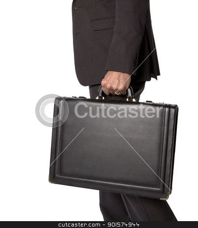 Businessman stock photo, Unreconizable businessman with a briefcase by Anne-Louise Quarfoth