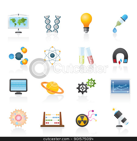 science, research and education Icons  stock vector clipart, science, research and education Icons - Vector Icon set by Stoyan Haytov