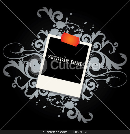 curly grunge vintage frames stock vector clipart, curly grunge vintage frames - vector illustration by Ilyes Laszlo