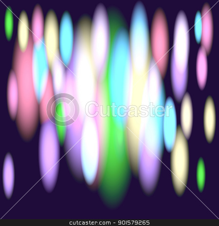 Glints of rainbow stock vector clipart, Abstract background with oval glowing lights vector illustration by Ekaterina
