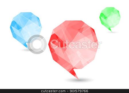 Speech bubbles stock photo, Set colorful speech bubbles and dialog balloons by Imaster