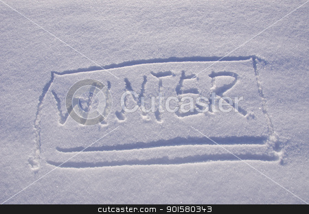 Inscription record snow winter Concept expression  stock photo, Inscription record on snow in winter. Concept human expression.  by sauletas