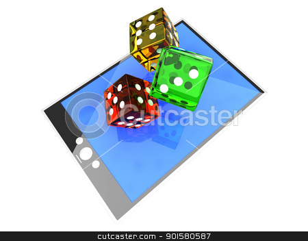 Game Pad stock photo, A Tablet PC / Pad. 3D rendered illustration. by Michael Osterrieder