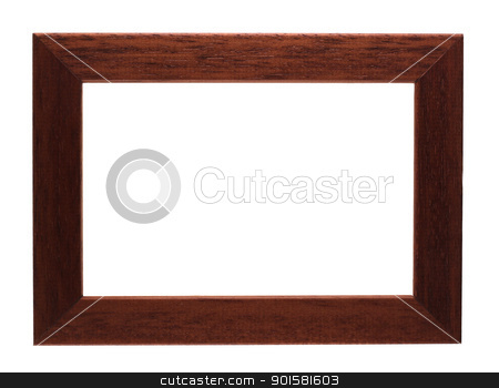 brown modern photo frame  stock photo, isolated on white background with clipping path by Leandro Jorge Reis Costa