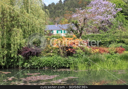 river in the garden stock photo, river in the garden by Chretien