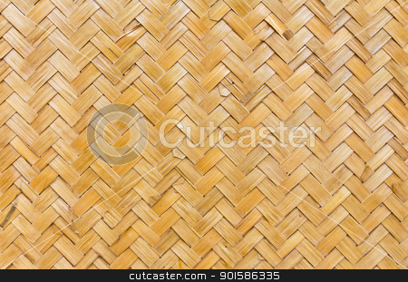 Thai style bamboo handcraft  stock photo, Pattern  of Thai style bamboo handcraft wallpaper by stoonn