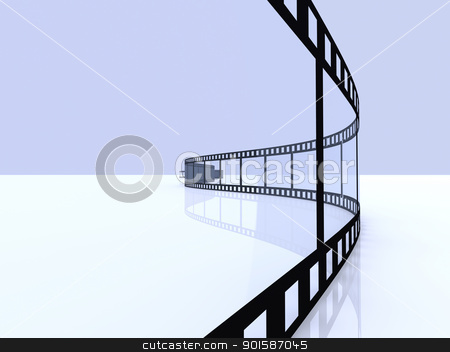 Film Strip stock photo, 3D Illustration.  by Michael Osterrieder