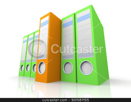 Special Folder stock photo, 3D rendered Illustration. Isolated on white. by Michael Osterrieder