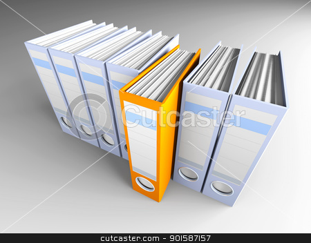 Special Folder stock photo, 3D rendered Illustration.  by Michael Osterrieder
