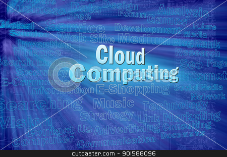 Cloud computing concept  stock photo, Cloud computing concept with internet related words by Lawren