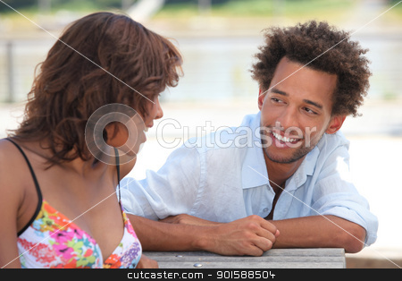 portrait of a couple outdoors stock photo, portrait of a couple outdoors by photography33