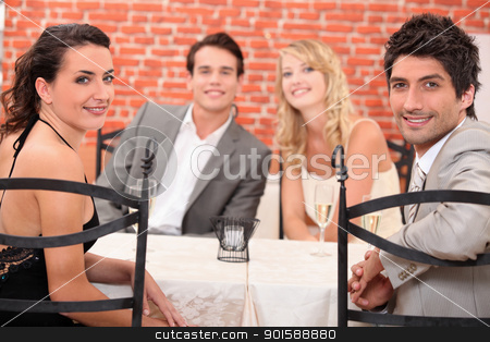 Friends dining stock photo, Friends dining by photography33