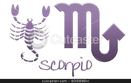 Scorpio Zodiac Signs - Purple Plastic stock photo, zodiac signs by StacyO