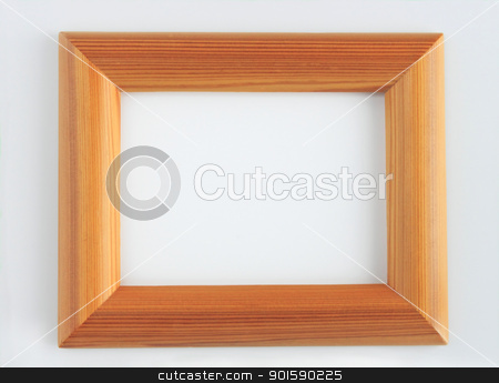 painted wooden picture frame  stock photo, painted wooden picture frame with ornaments, isolated on white by yoshiyayo
