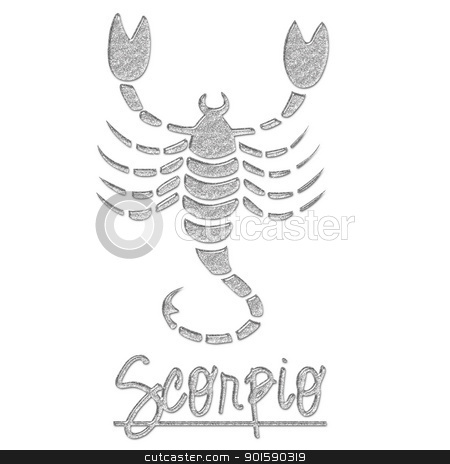 Scorpio Glitter Scorpion stock photo, Scorpio Glitter Scorpion by StacyO