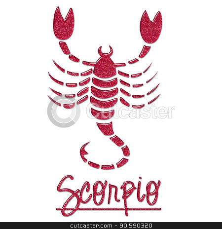 Scorpio Pink Glitter Scorpion stock photo, Scorpio Glitter Scorpion by StacyO