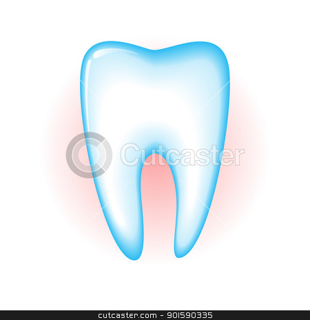 Tooth stock photo, Sick tooth isolated on a white background. Vector illustration by dvarg