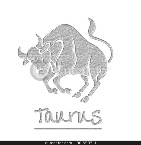 Glitter Taurus Bull stock photo, zodiac sign by StacyO