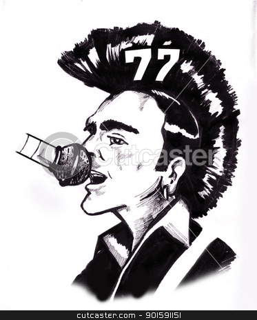 punk stock photo, illustration to punk music by emintoksoz