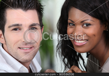 Closeup of a couple in their early thirties stock photo, Closeup of a couple in their early thirties by photography33
