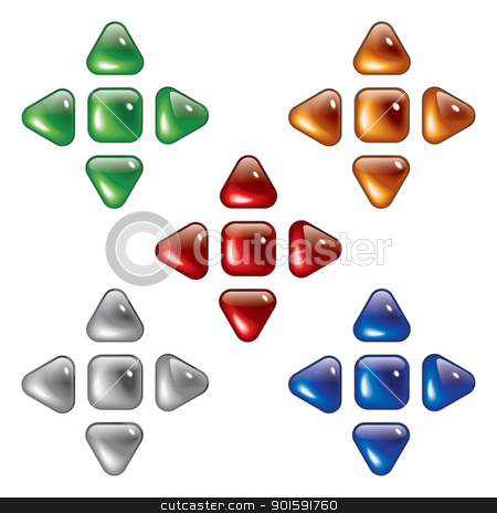 Glossy web buttons stock photo, Glossy web buttons. Isolated on white background by dvarg