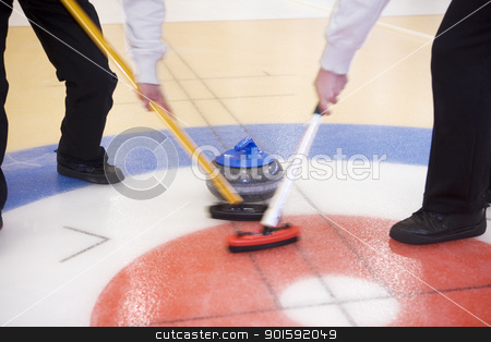 Curling Situation stock photo, Close up of a Curling situation by Anne-Louise Quarfoth