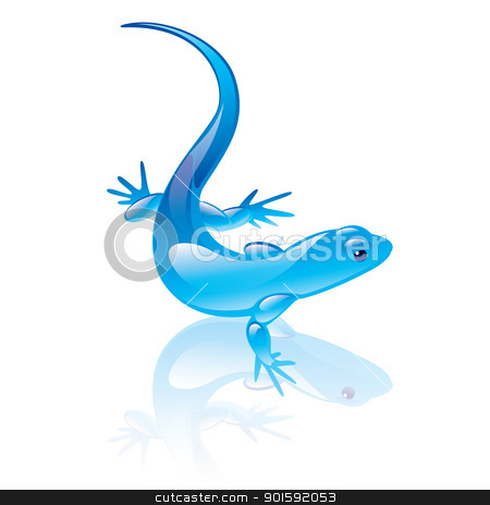 reptile stock photo, Vector illustration of reptile symbol. Blue design. by dvarg