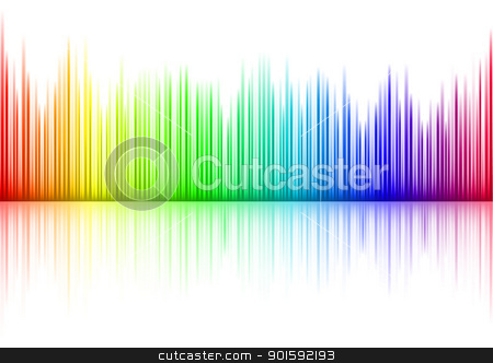 Sound waveform stock photo, Colorful Sound waveform (editable vector) on white by dvarg