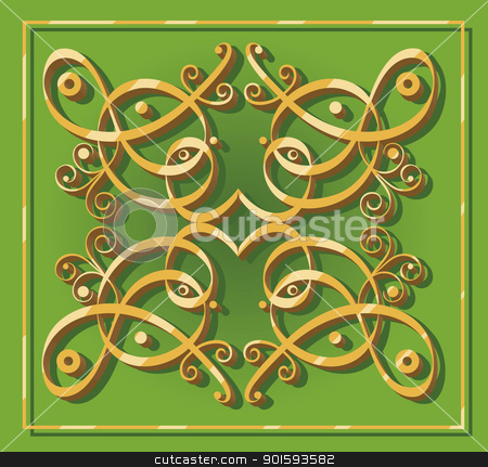 decorative oriental element stock vector clipart, decorative oriental element for backgrounds wallpapers icons or designs by Igor Zakowski
