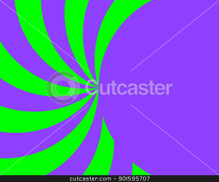 Bright Purple and Green Ray and Half Circle stock photo, Bright Purple and Green Ray and Half Circle Background by Snap2Art