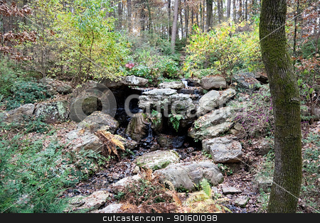 Small Spring stock photo, A small natural spring of water in a forest by Kevin Tietz