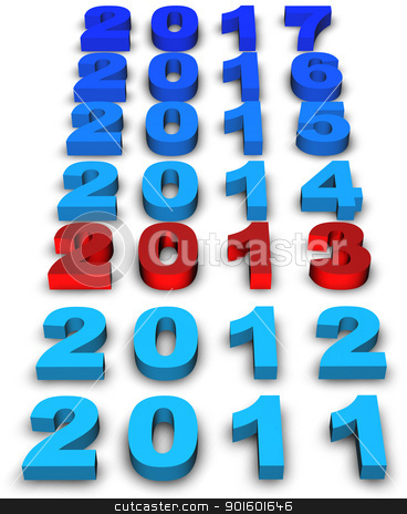 2013 New Year stock photo, 2013 new year modeled with tridimensional numbers by marphotography
