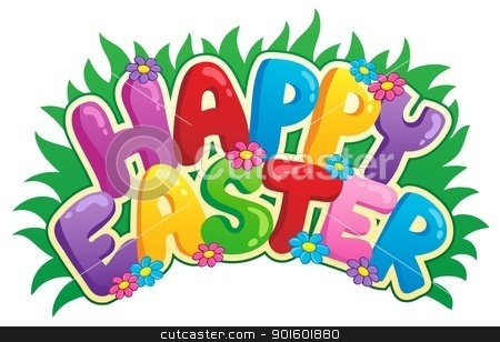 Happy Easter sign theme image 2 stock vector clipart, Happy Easter sign theme image 2 - vector illustration. by Klara Viskova