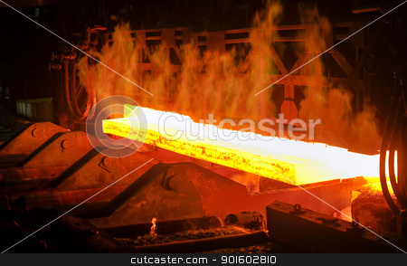 hot steel from oven stock photo, hot steel from oven by jordachelr