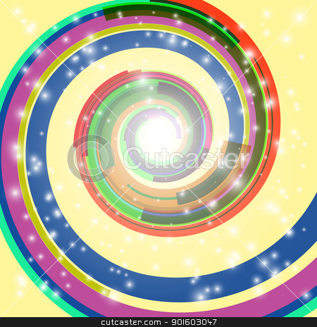 Abstract swirl background stock photo, Abstract swirl background. EPS10. Used transparency layers of spotlights and spiral object by Imaster