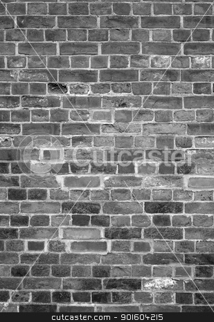 Old English brick wall black and white background. stock photo, Old English brick wall black and white background. by Stephen Rees