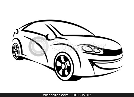 Car line art stock photo, My own car concept in line art by Sreedhar Yedlapati