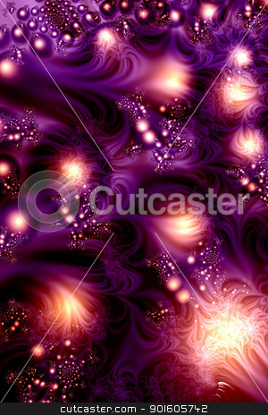 Purple Eos stock photo, 3d rendered Illustration by Michael Osterrieder