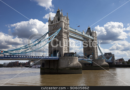 Tower Bridge in London, UK stock photo, Famous tower bridge in London on River Thames by Ints Vikmanis