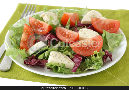 salad with cheese mozzarella stock photo, salad with cheese mozzarella by nataliamylova