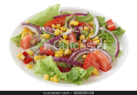 vegetable salad stock photo, vegetable salad by nataliamylova