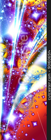 Shooting Star stock photo, 3d rendered Illustration. Freaky colorful pattern.  by Michael Osterrieder