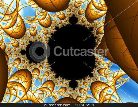 Sines stock photo, Fractal illustration  by Michael Osterrieder