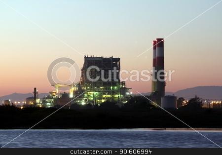 Power Station stock photo, natural gas power statio near oxnard california by Henrik Lehnerer