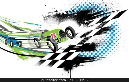 Race to the Finish Line  Race Car Finish Line Clipart